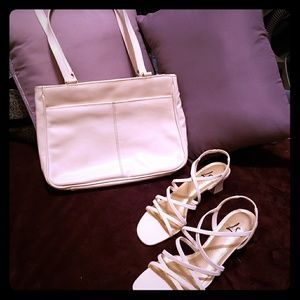 Ivory Strappy Sandles &FREE Matching Purse